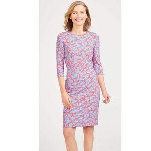 J. McLaughlin catalyst dress in Brisbane coral